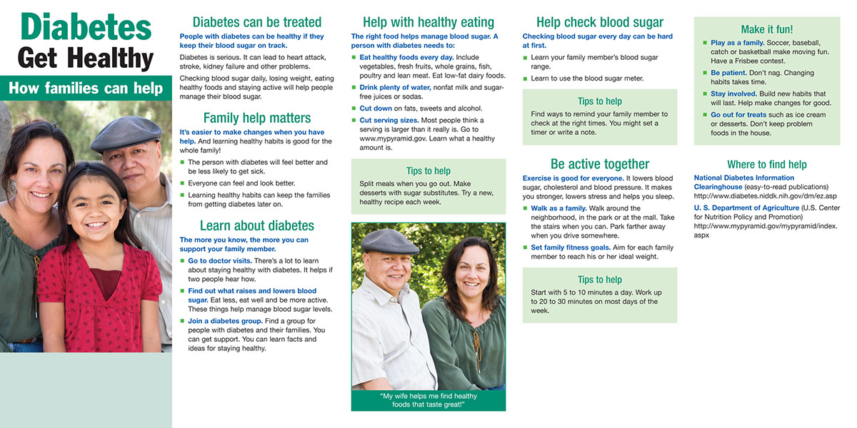 Helping people diabetes stay active