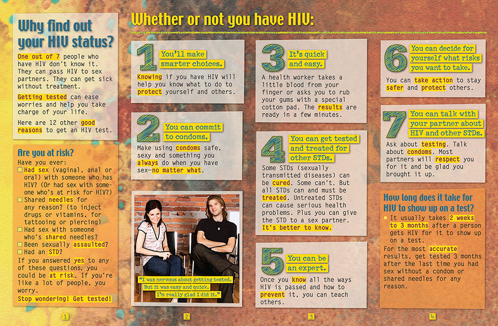 12 Reasons: Get Tested for HIV - Pamphlet - ETR