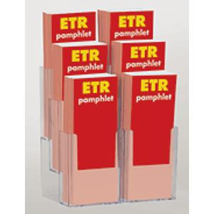 6-Slot Pamphlet Display Rack