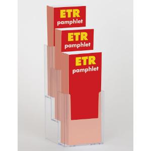 3-Slot Pamphlet Display Rack