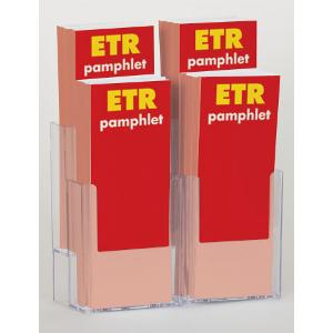 4-Slot Pamphlet Display Rack