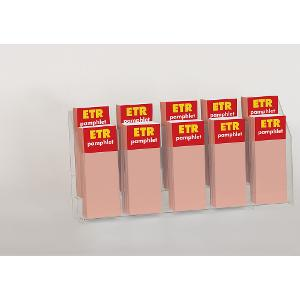 10-Slot Pamphlet Display Rack