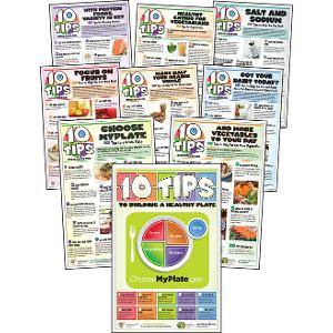 10 Tips: Nutrition Education Poster Series (Laminated)