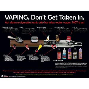 Vaping: Don't Get Taken In Poster (Laminated)