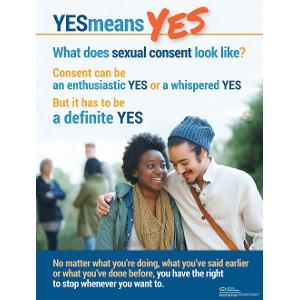 Yes Means Yes Poster (Laminated)