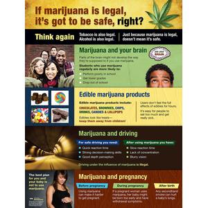 Legalized Marijuana: Making Smart Choices Poster (Laminated)