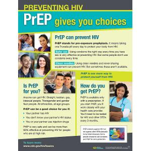Preventing HIV: PrEP Gives you choices Poster (Laminated)