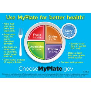 Use MyPlate for Better Health! Magnet