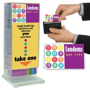 Condoms: Hot Tips Pocket Guide Display Rack