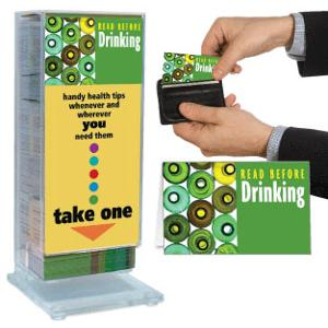 Read Before Drinking Pocket Guide Display Rack