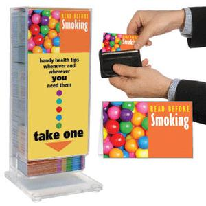 Read Before Smoking Pocket Guide Display Rack
