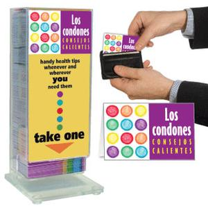 Condoms: Hot Tips (Spanish) Pocket Guide Display Rack