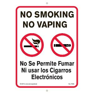 No Smoking No Vaping (Eng./Span.) Sign