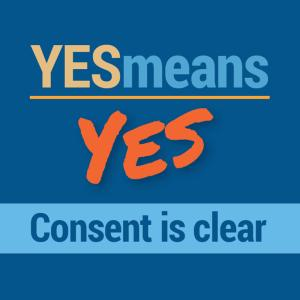 """Yes Means Yes / Consent Is Sexy"" Condom Holder"