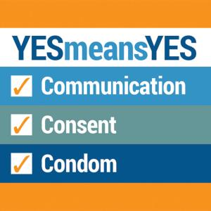 """Yes Means Yes / Communication"" Condom Holder"