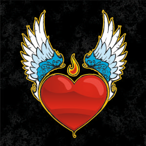 """Winged Heart"" Condom Holder Unassembled"