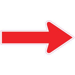 Social Distancing Red Direction Arrow Floor Sticker
