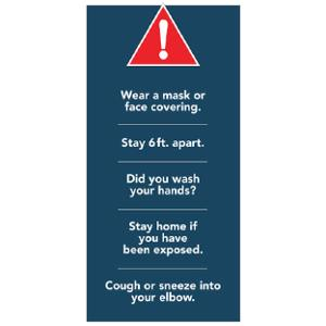 Social Distancing Self-Standing Floor Sign with 5 Alerts