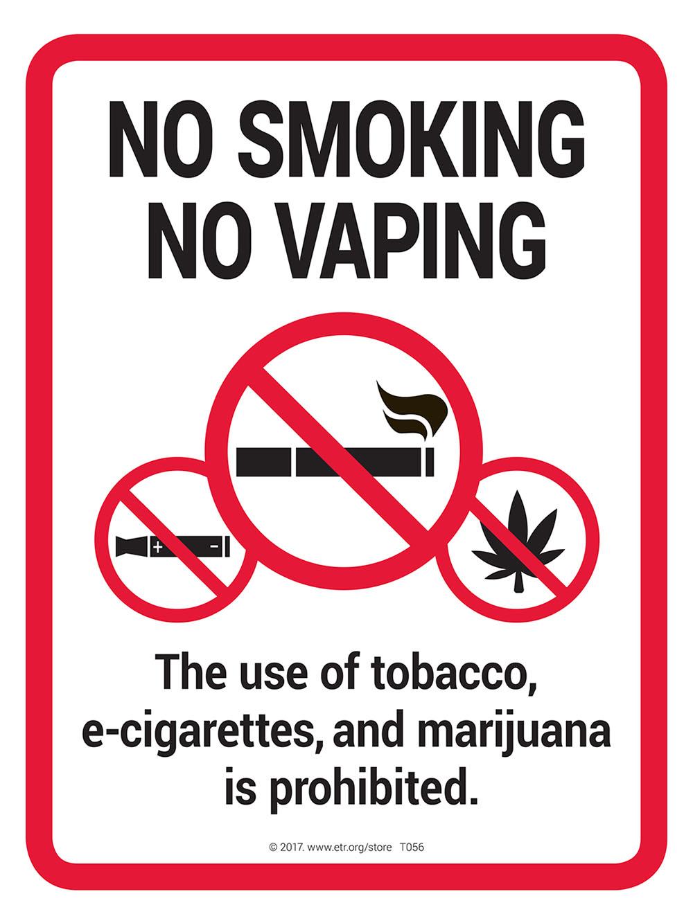 no smoking    no vaping    no marijuana sign - sign
