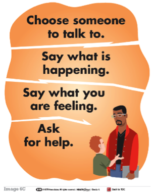 HealthSmart poster: Ask for help from an adult you trust.