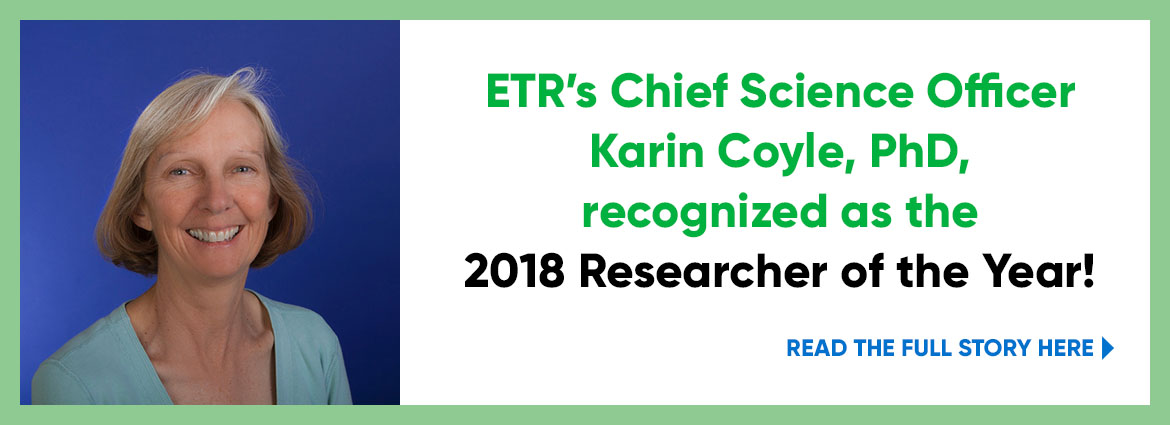 Karin Coyle, 2018 Researcher of the year