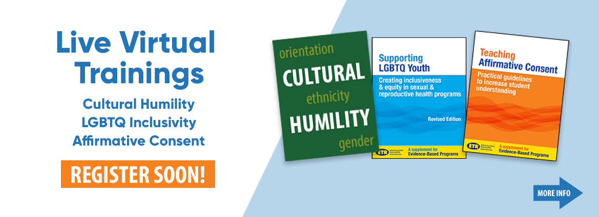 Live Virtual Trainings Cultural Humility, LGBTQ Inclusivity, Affirmative Consent - Register soon!