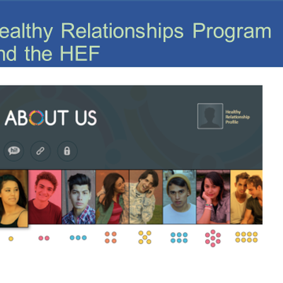 About Us: A Healthy Relationships Program for Vulnerable Youth