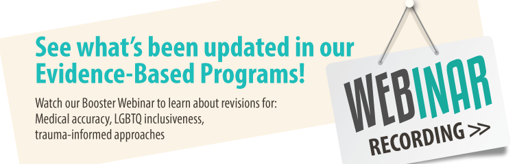 Evidence-Based Programs Revisions Booster. Wed, Oct 26 10-11 AM PDT