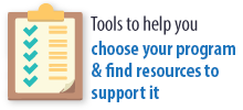 Tools to help you choose you EBI and find resources to support program success